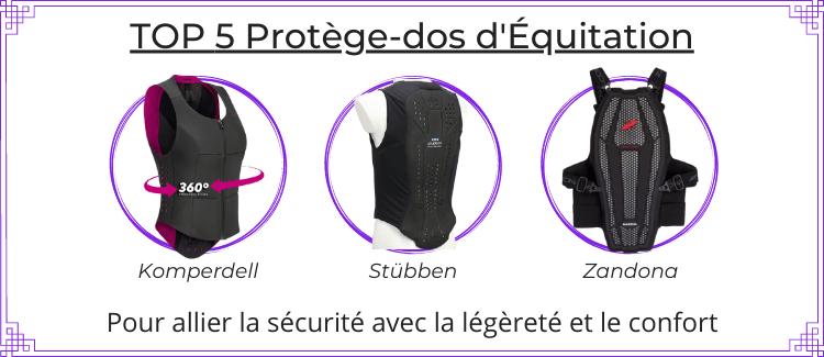 Top 5 protège-dos équitation